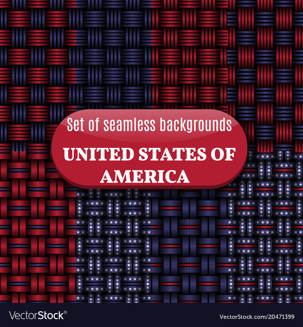 Set of american seamless background