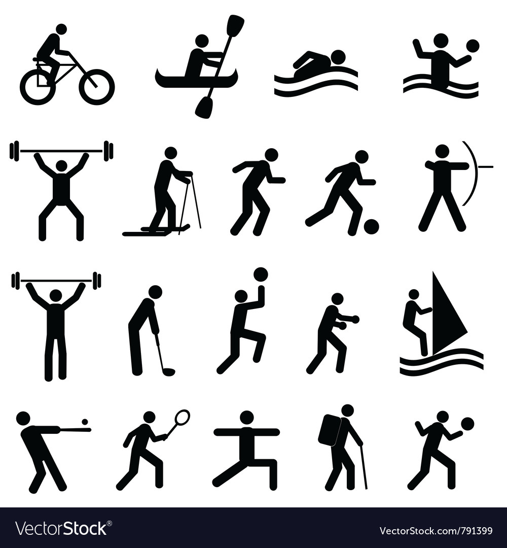 sports and training icons royalty free vector image  vectorstock