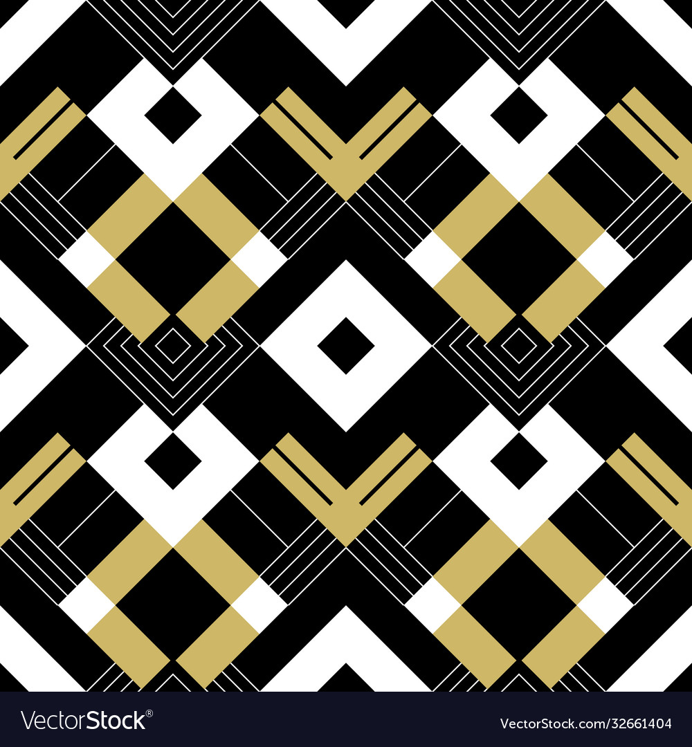 Abstract geometric golden pattern with stripes
