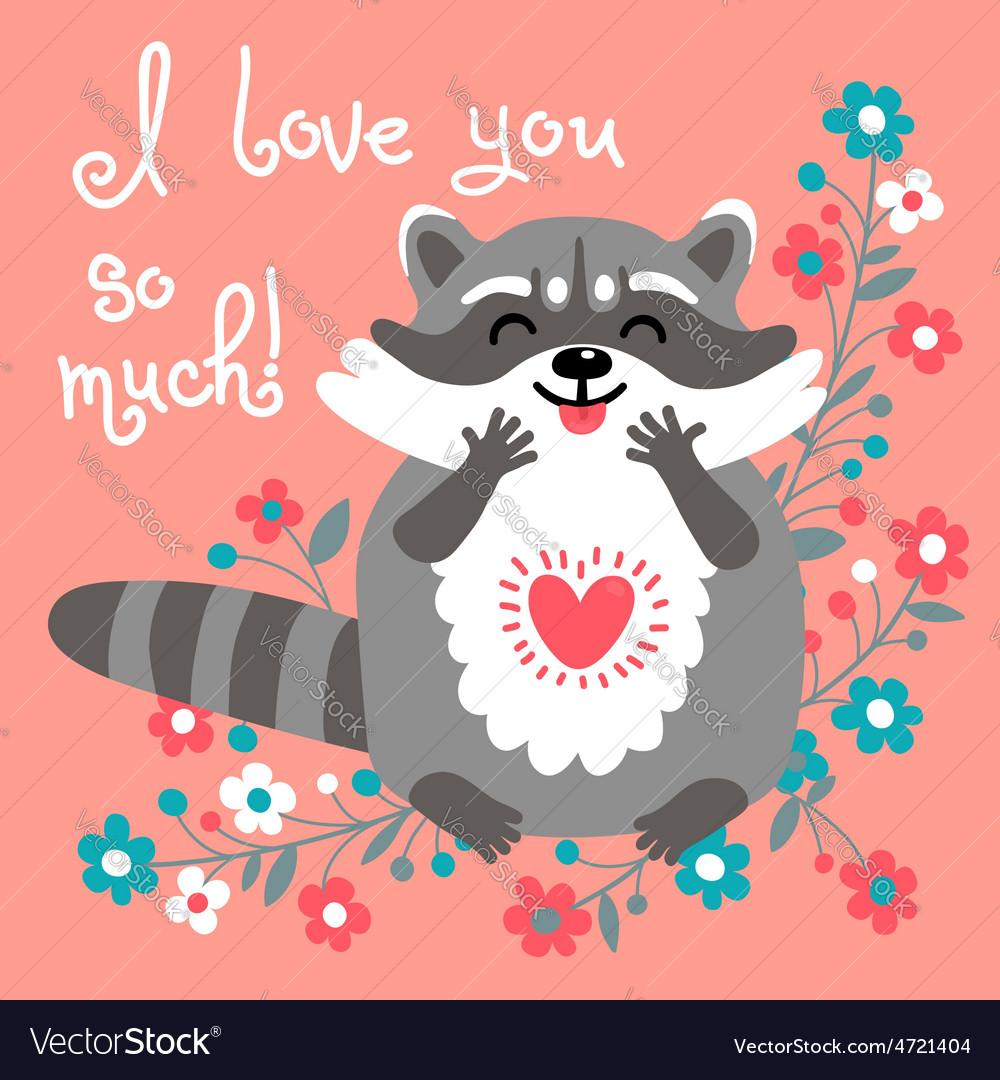 Cute raccoon confesses his love