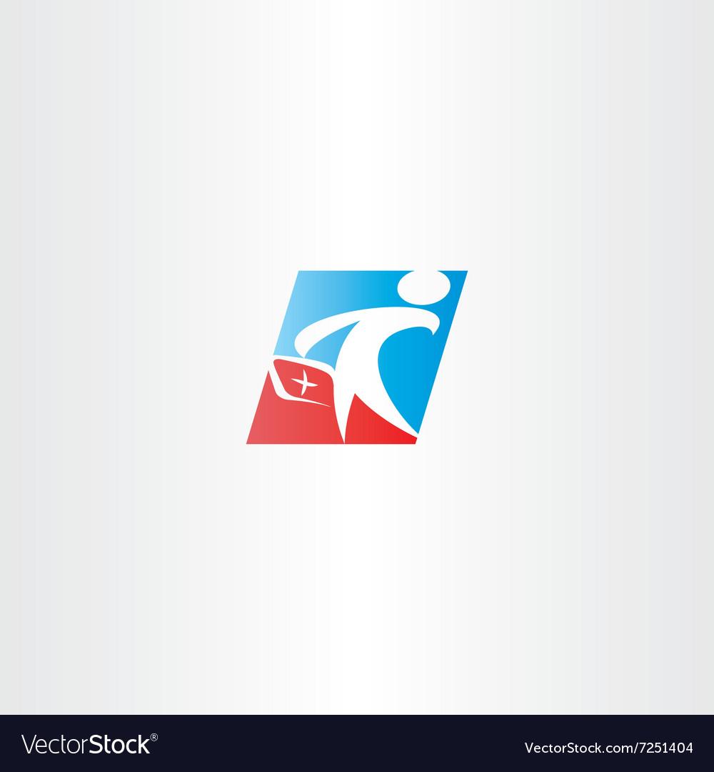 Doctor medic man logo icon