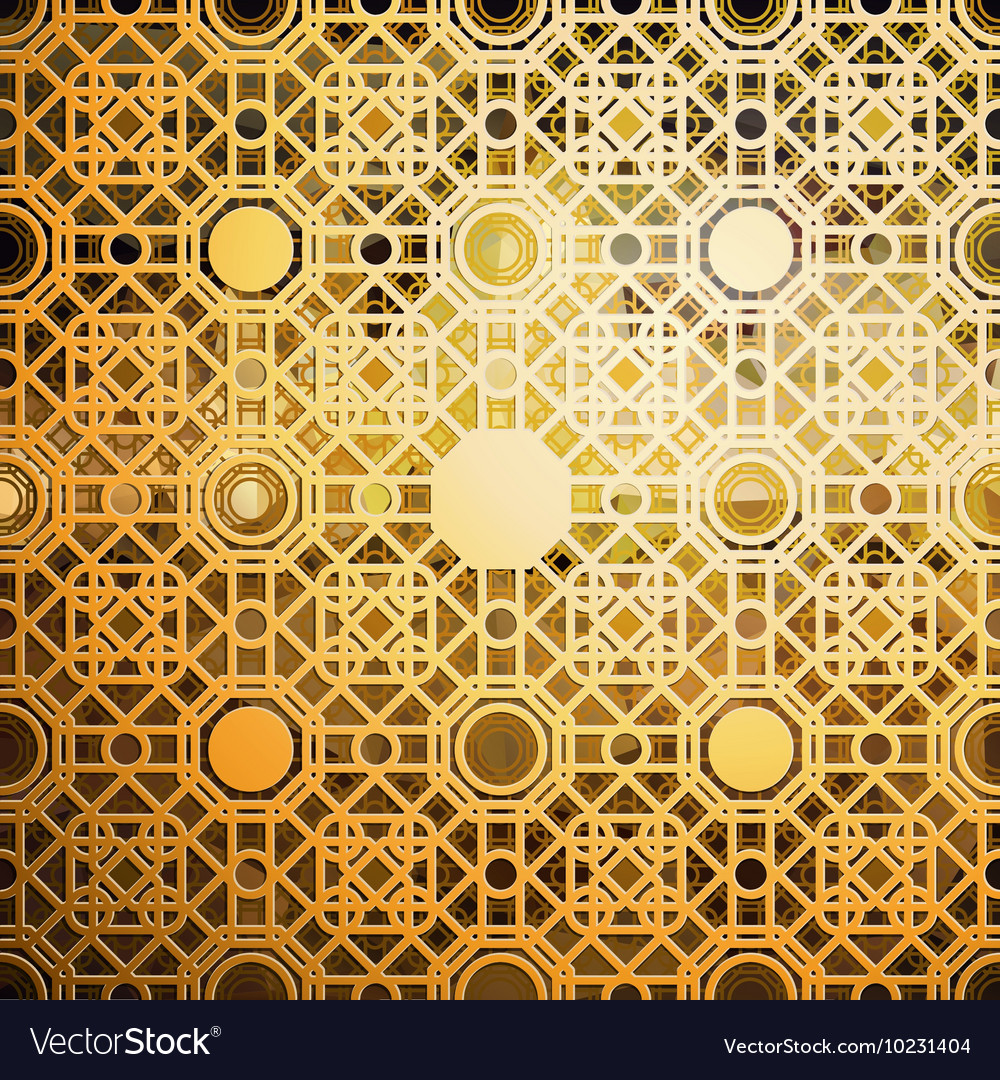 Gold Islamic Pattern Background