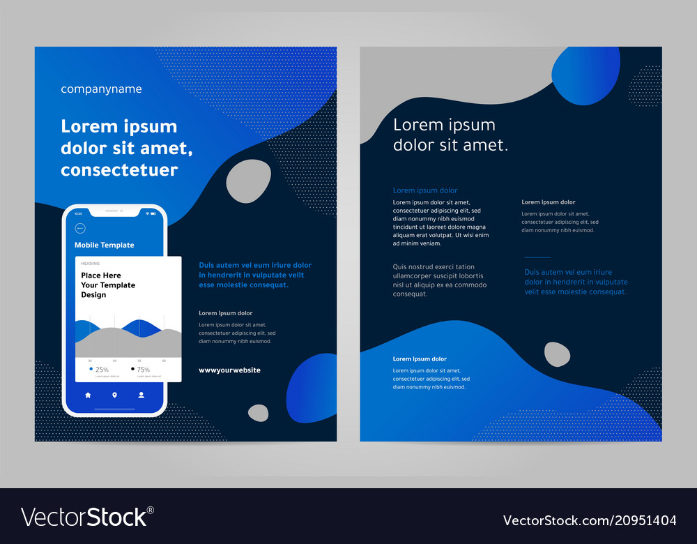 layout template design with mobile application vector image
