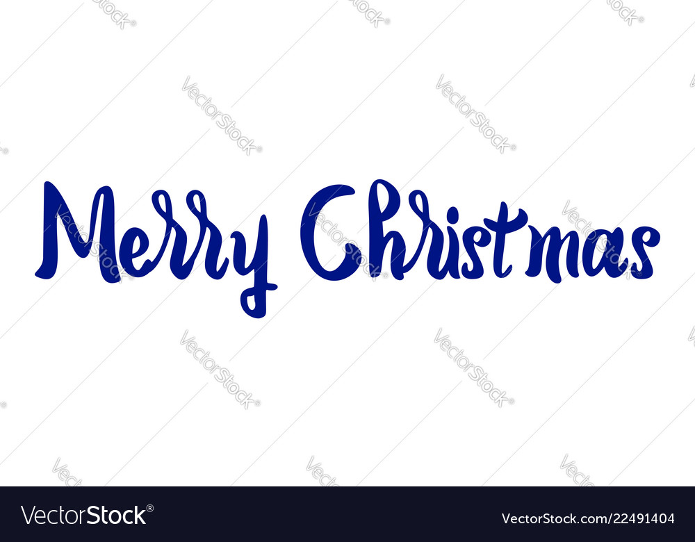 Merry christmas text lettering on white