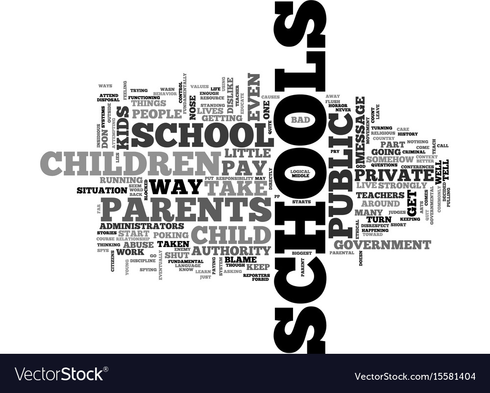 when schools turn into spys text word cloud vector image