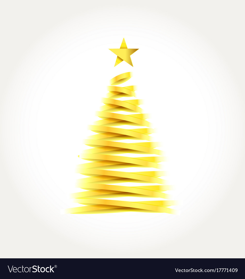 abstract golden christmas tree royalty free vector image