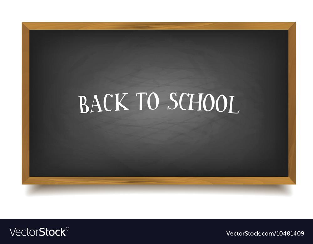 Back to school The inscription on the blackboard
