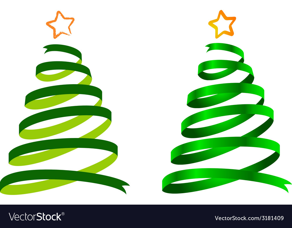Christmas tree ribbon. Trees