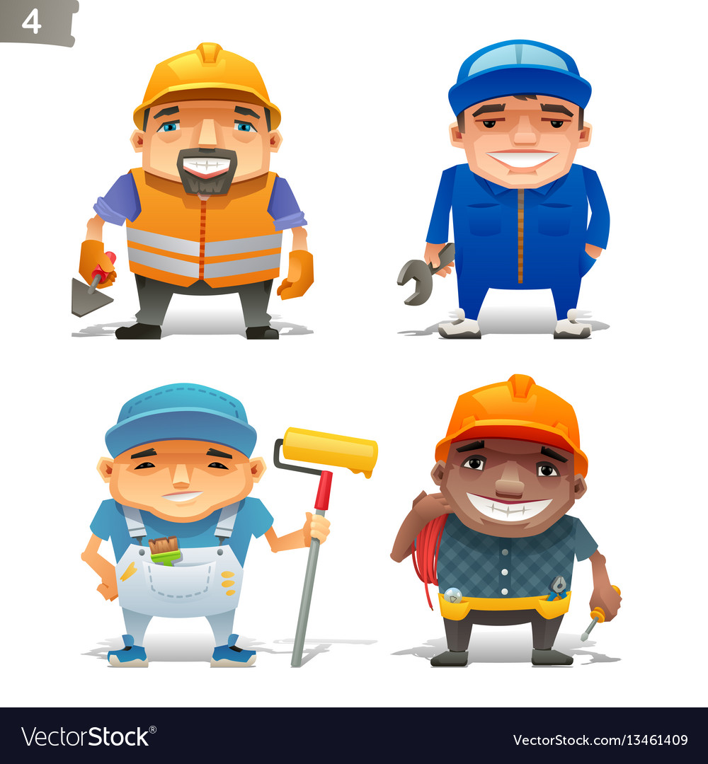 Construction professions set-2 vector image