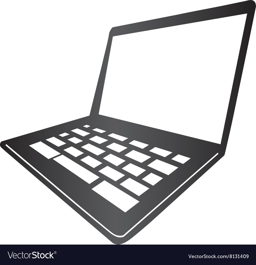 Mac Laptop vector image
