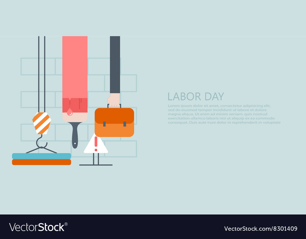 Modern flat labor day or 1 may