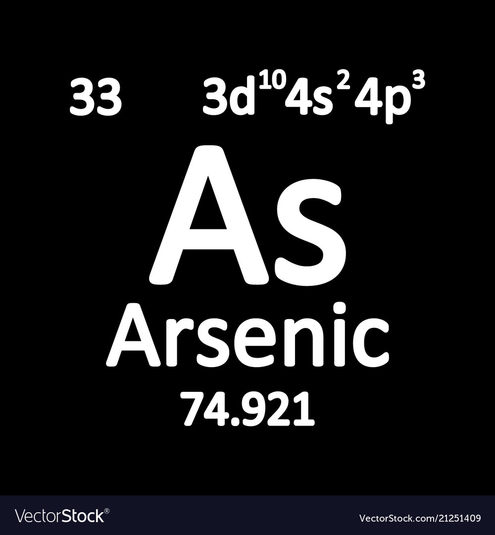 Periodic Table Element Arsenic Icon Royalty Free Vector