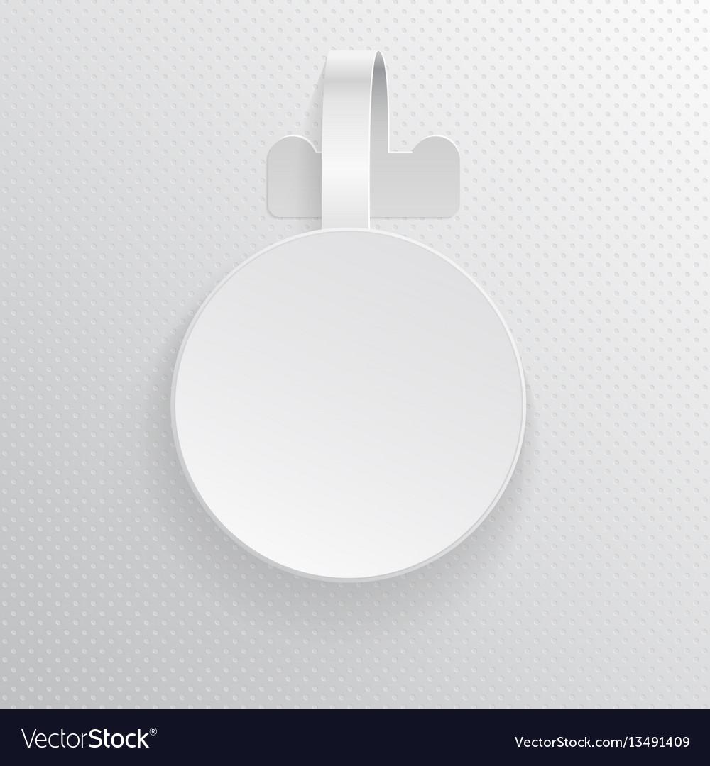 Plastic advertising wobbler round papper price vector image