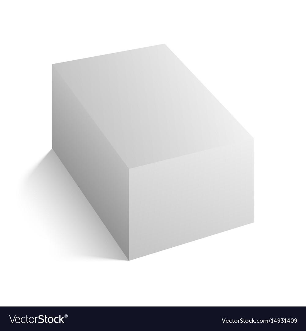 Realistic white block mockup vector image
