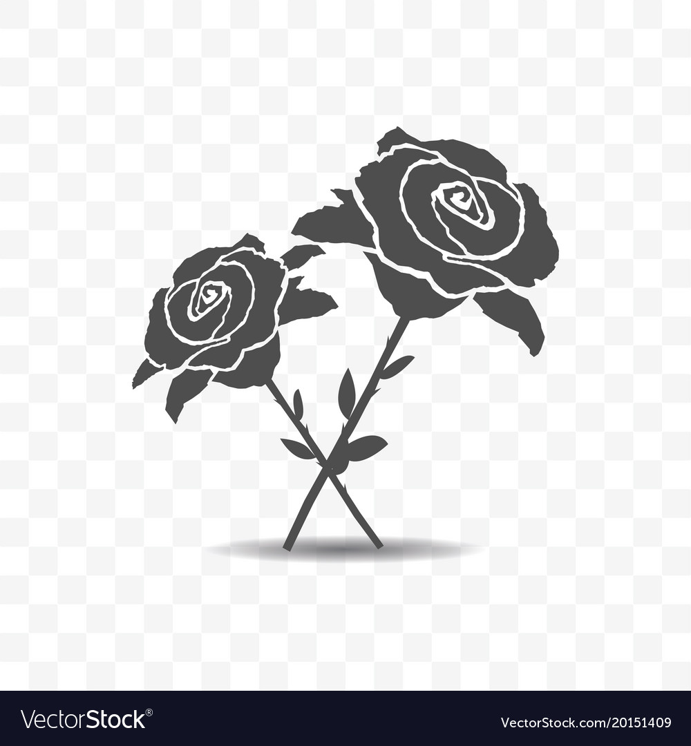 Roses icon isolated on transparent background