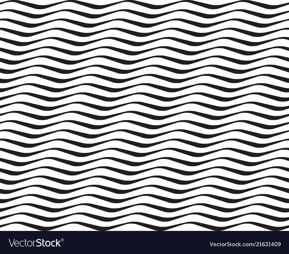 Seamless black and white wavy lines