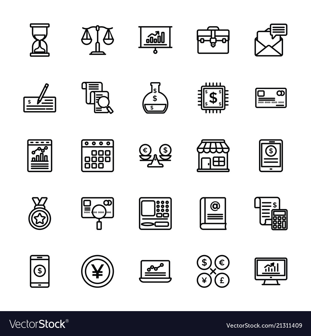 Startup and new business line icons