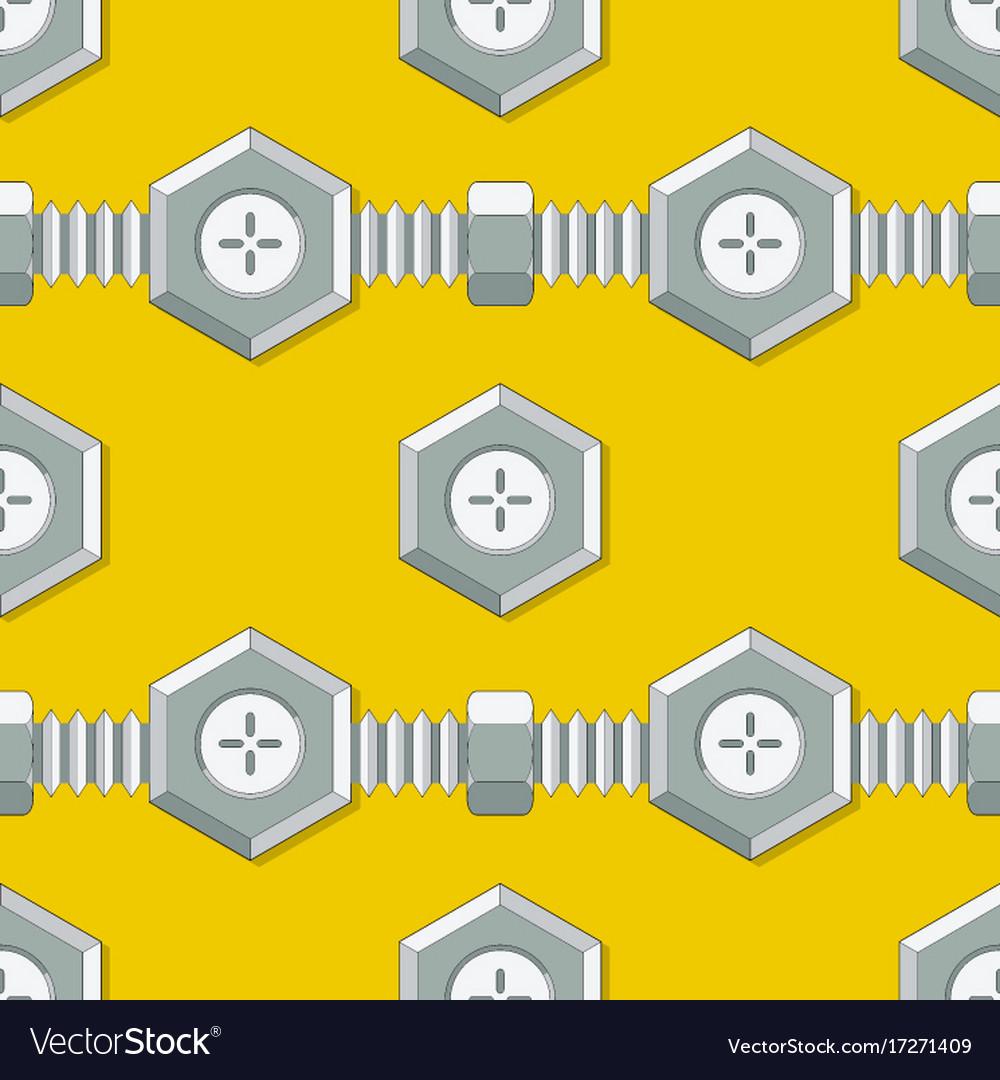 Symmetrical background with stud bolt