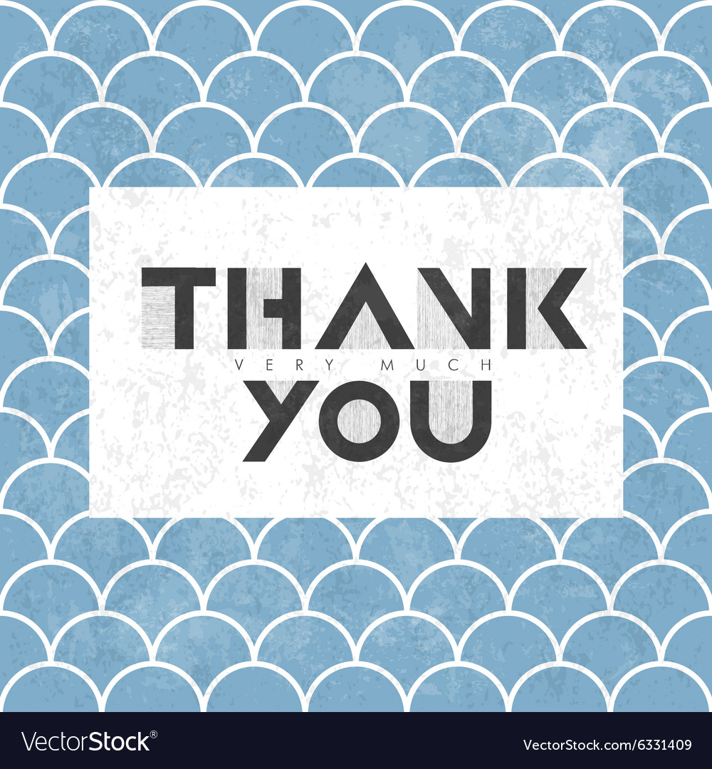 Thank you on scale pattern