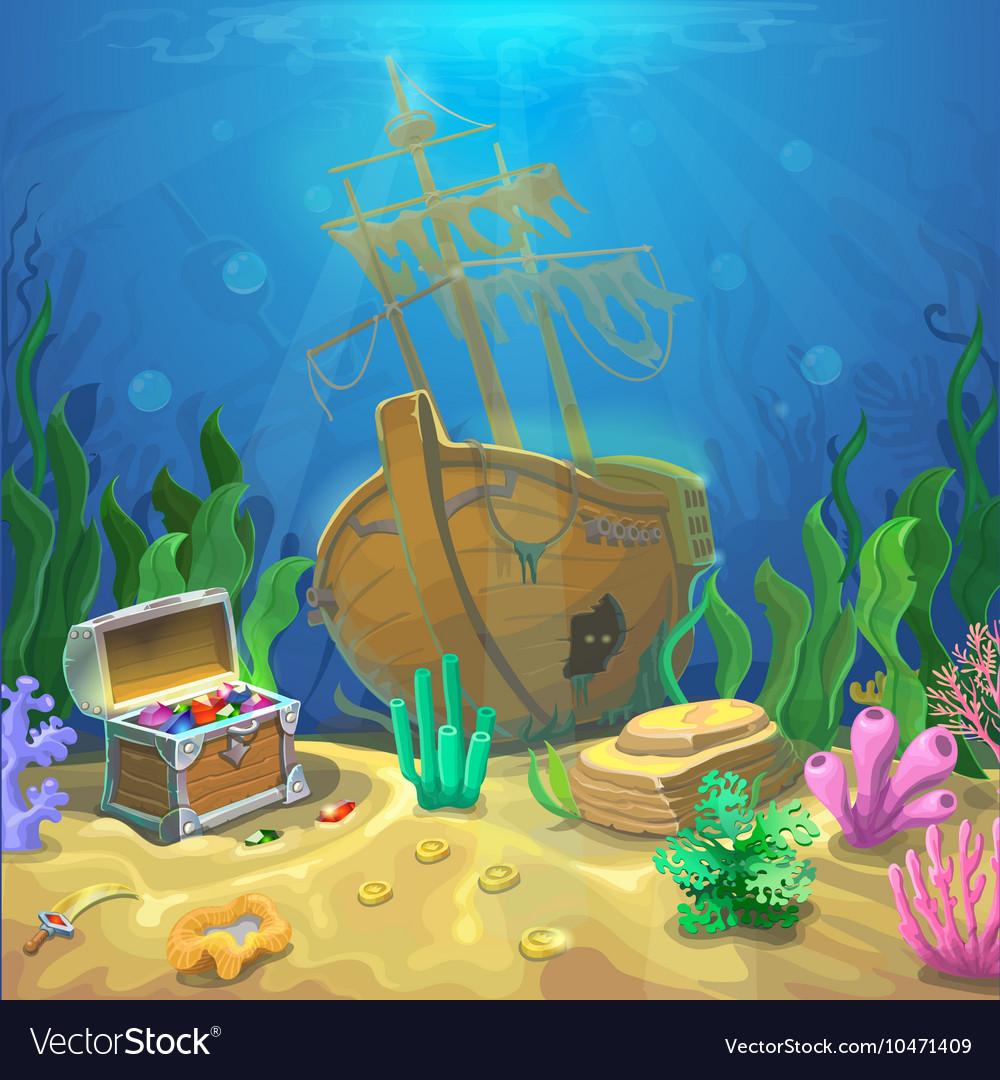 Underwater landscape The ocean and the undersea