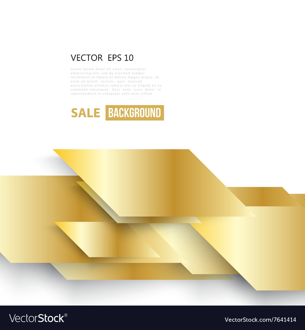 Abstract geometric gold background