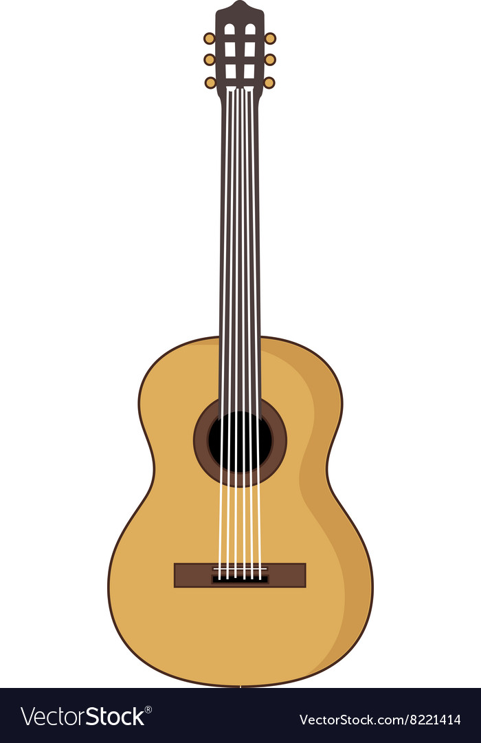 Acoustic-Guitar-380x400 vector image