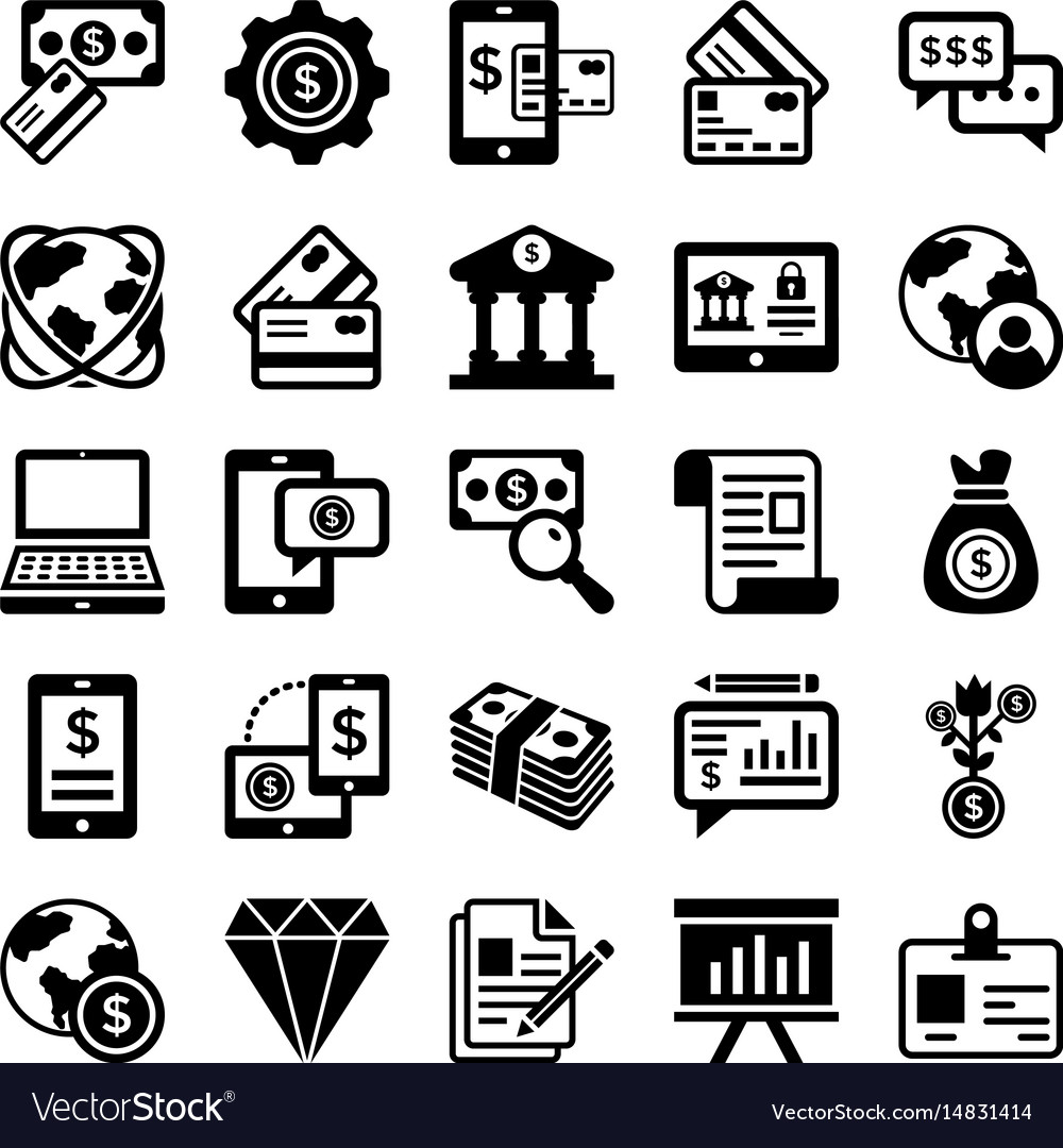 Banking and finance line icons 4