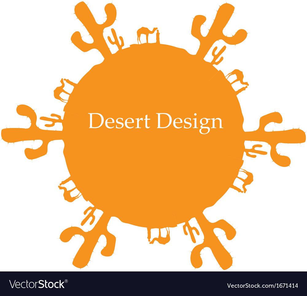Desert sun concept image for your design