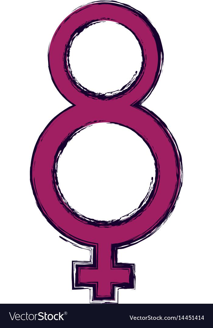Female Gender Symbol Royalty Free Vector Image