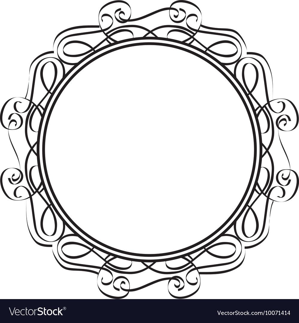 frame victorian decoration icon royalty free vector image rh vectorstock com round victorian frame vector victorian border frame vector