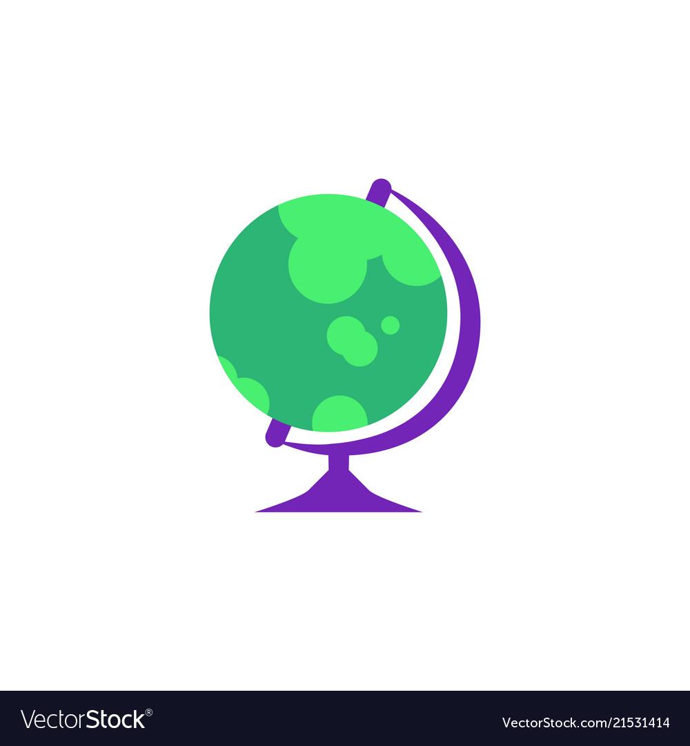 Globe - spherical model of earth isolated on white