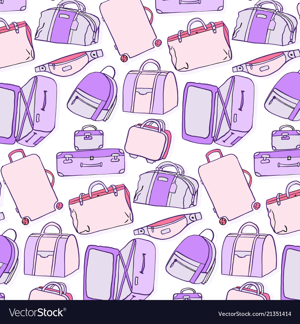 Luggage pattern baggage accessories suitcase bum