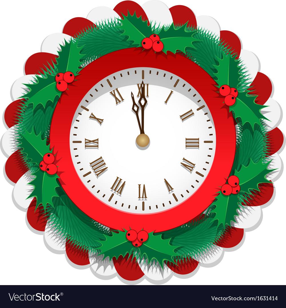 Plane Christmas Watch vector image