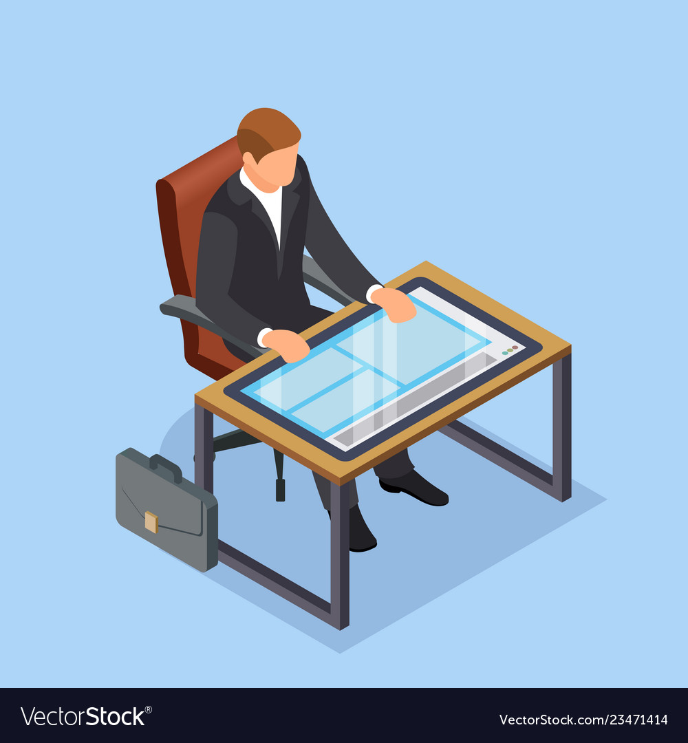 Workplace of the future businessman or manager