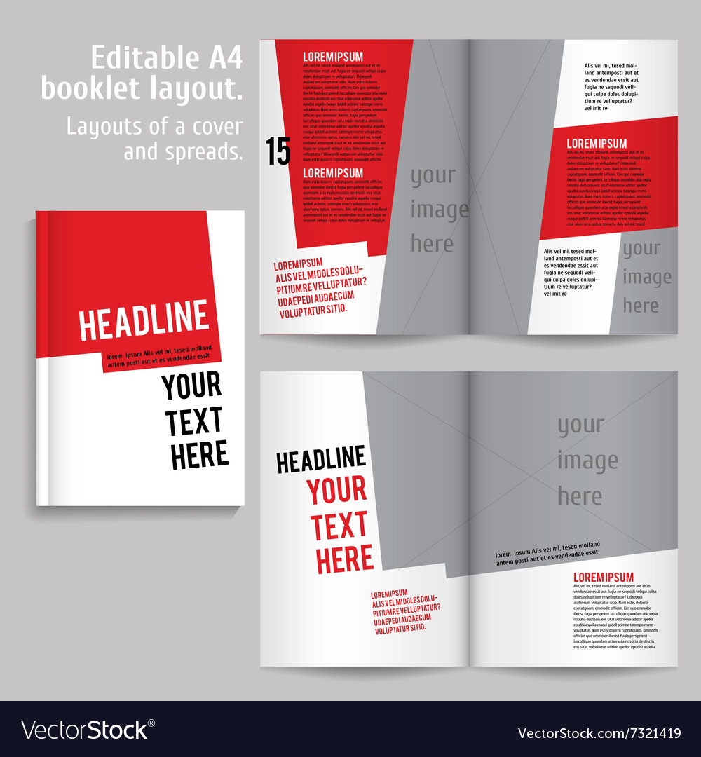 A4 book layout design template royalty free vector image a4 book layout design template vector image maxwellsz