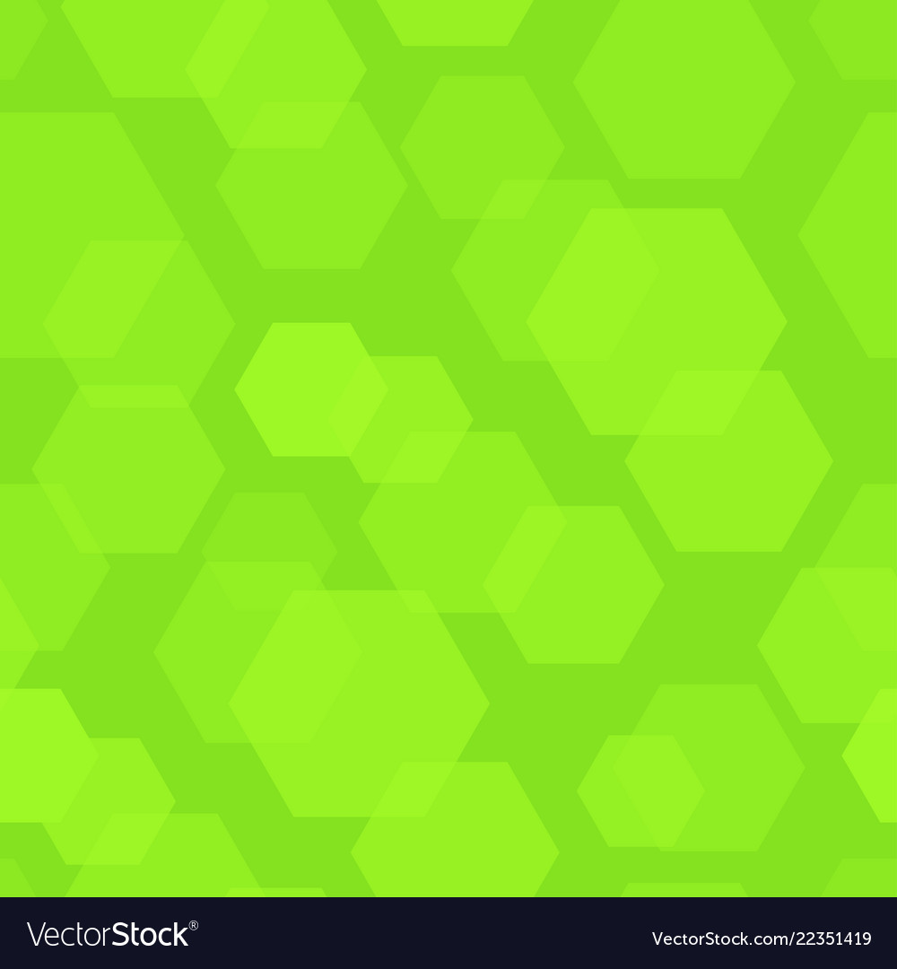 Abstract background with green hexagon