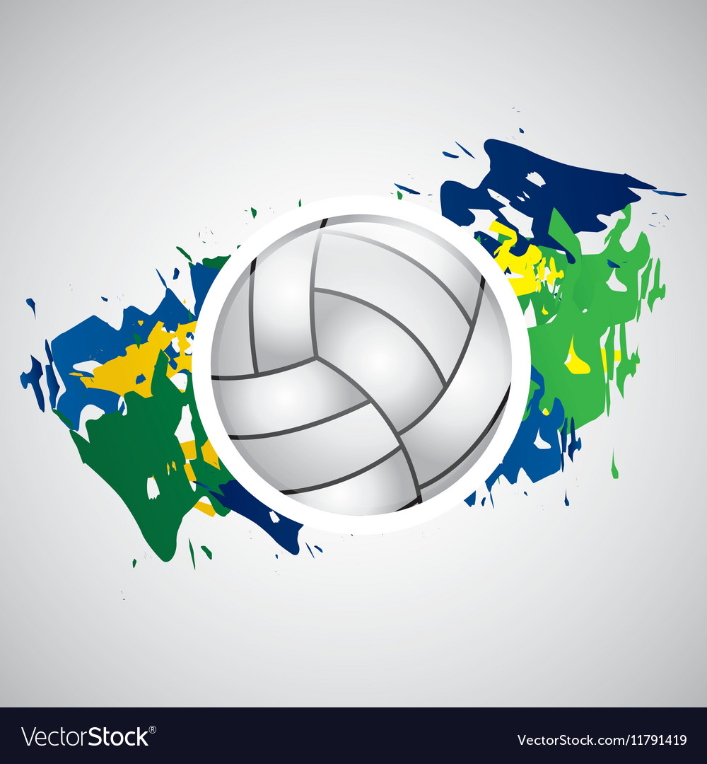 Ball volleyball olympic games brazilian flag Vector Image c01346264d97
