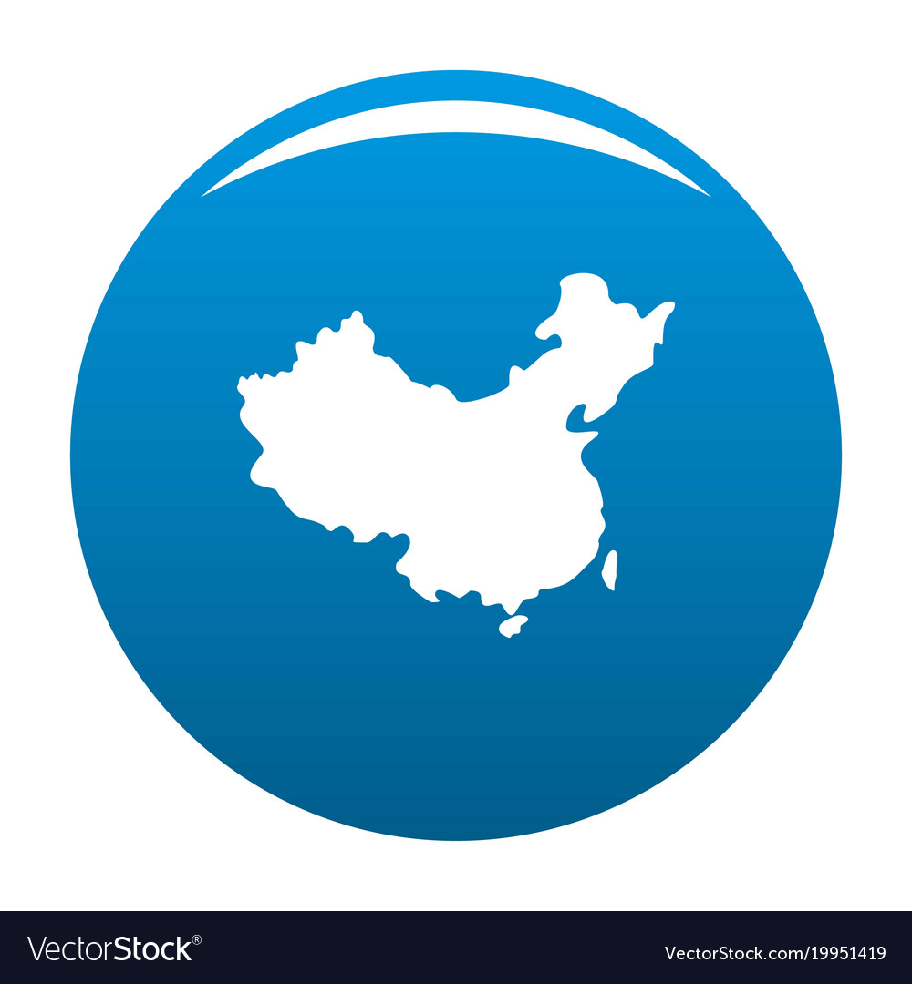 China map icon blue royalty free vector image vectorstock china map icon blue vector image gumiabroncs Gallery