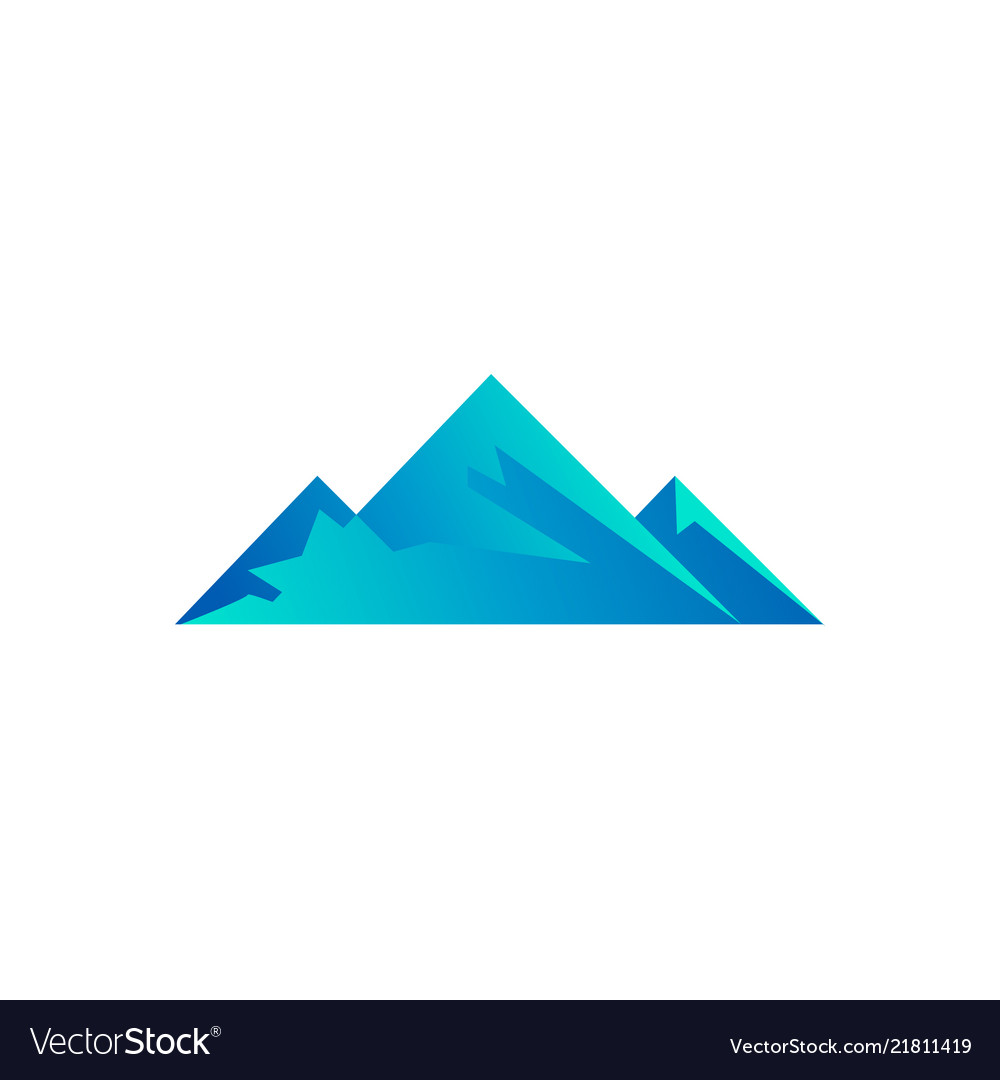 Clean of poly mountain logo template