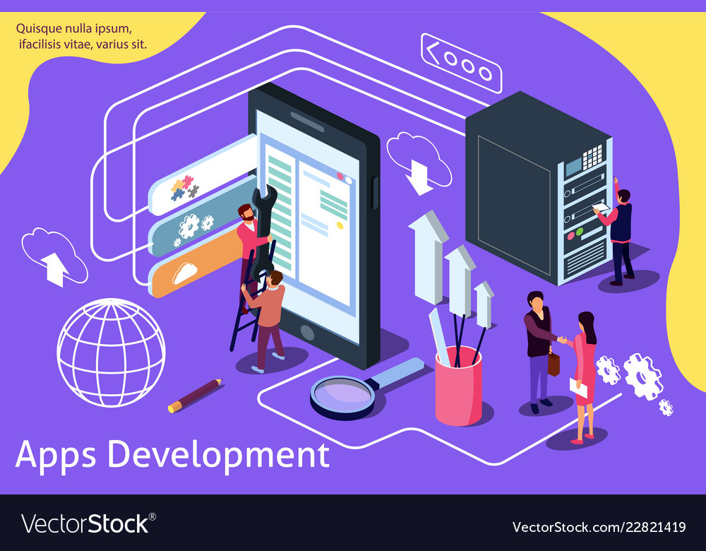 Creative isometric app development