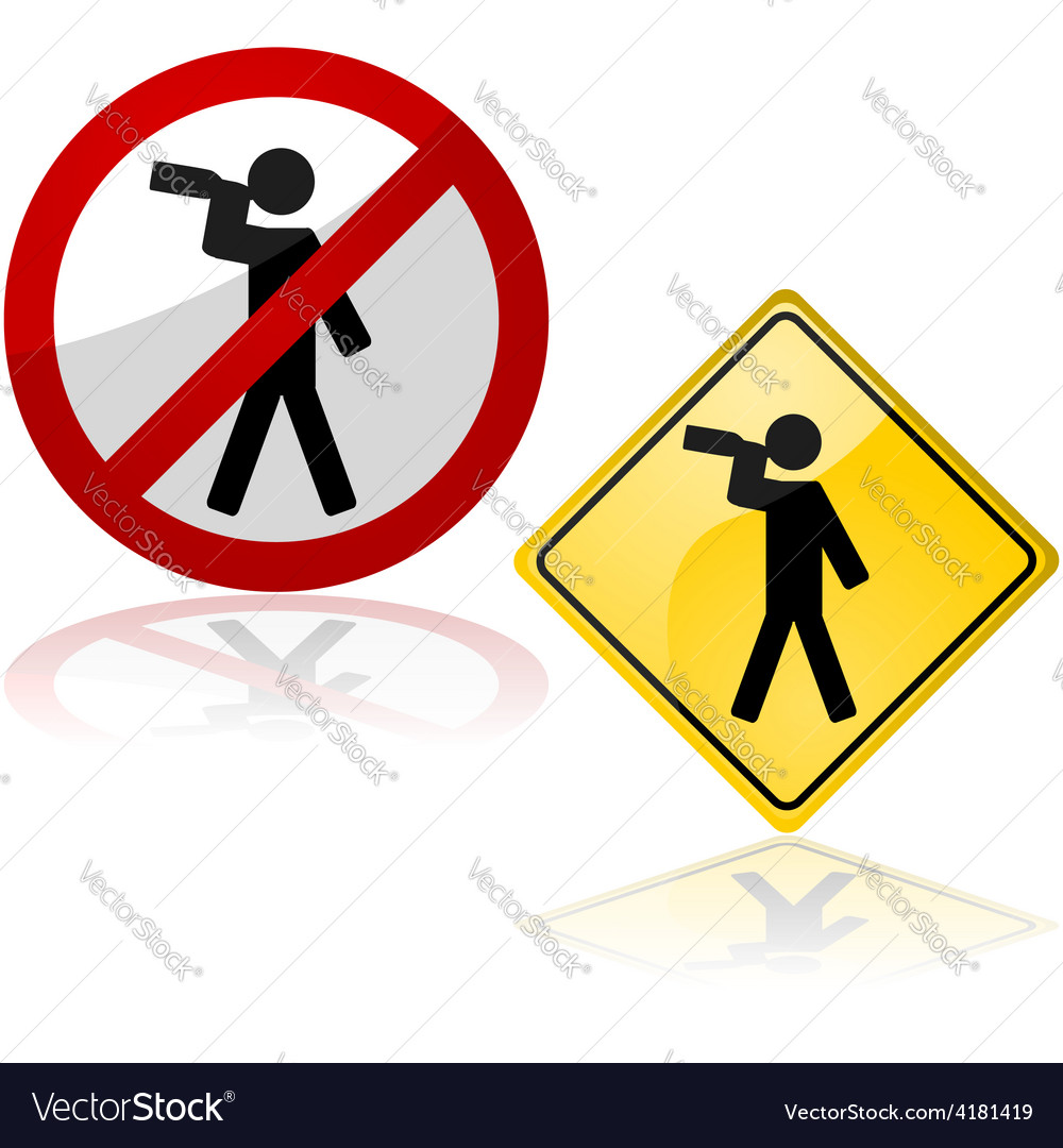 Drinking signs vector image