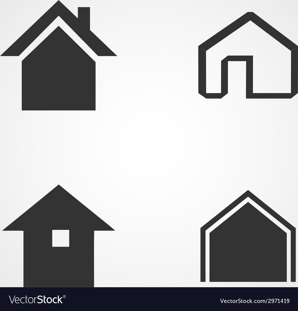 House icons set flat design