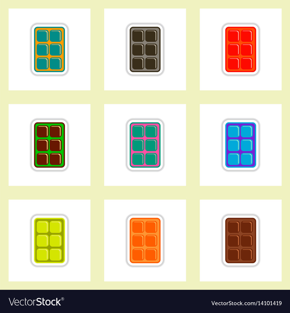Label icon on design sticker collection biscuits
