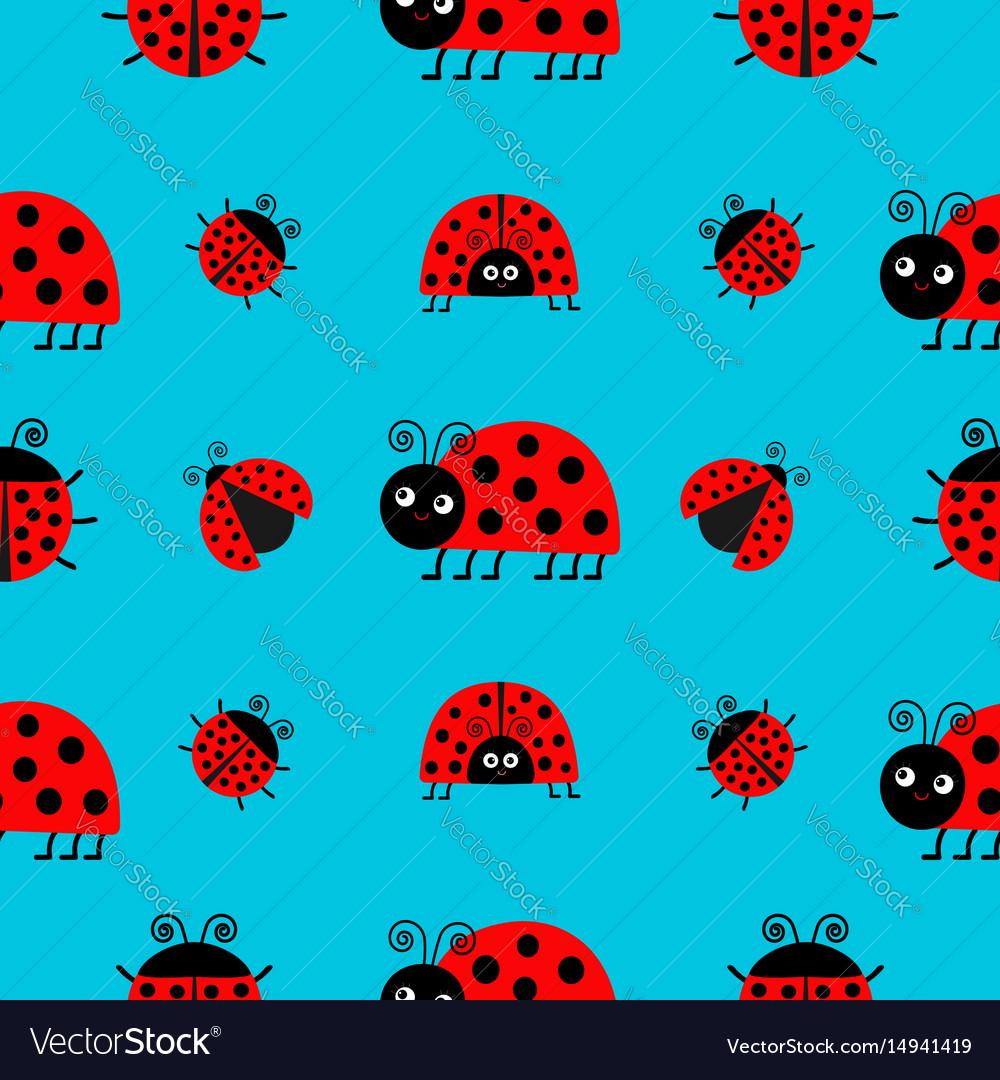 Ladybug ladybird icon set baby collection funny