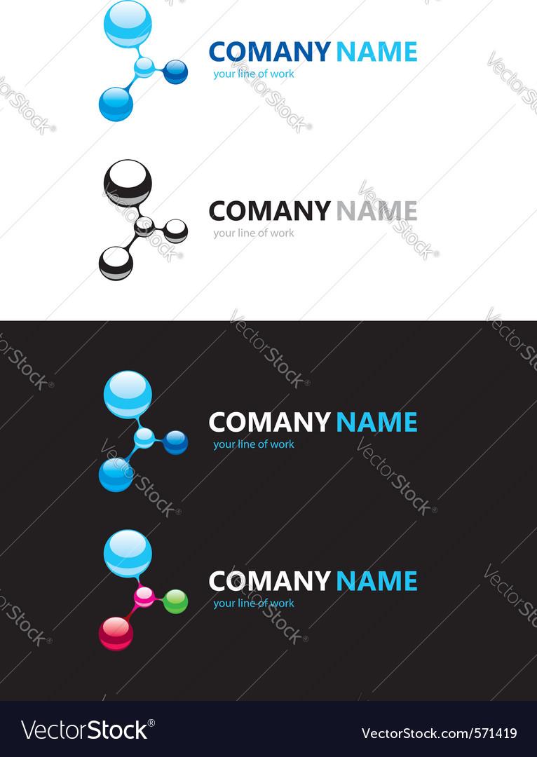 Nanotechnology logo vector image