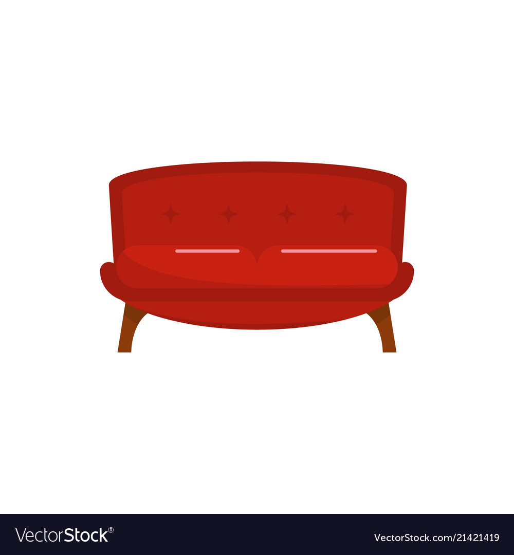 Cool Red Tuxedo Sofa Icon Flat Style Caraccident5 Cool Chair Designs And Ideas Caraccident5Info