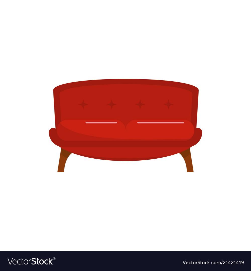 Pleasing Red Tuxedo Sofa Icon Flat Style Customarchery Wood Chair Design Ideas Customarcherynet