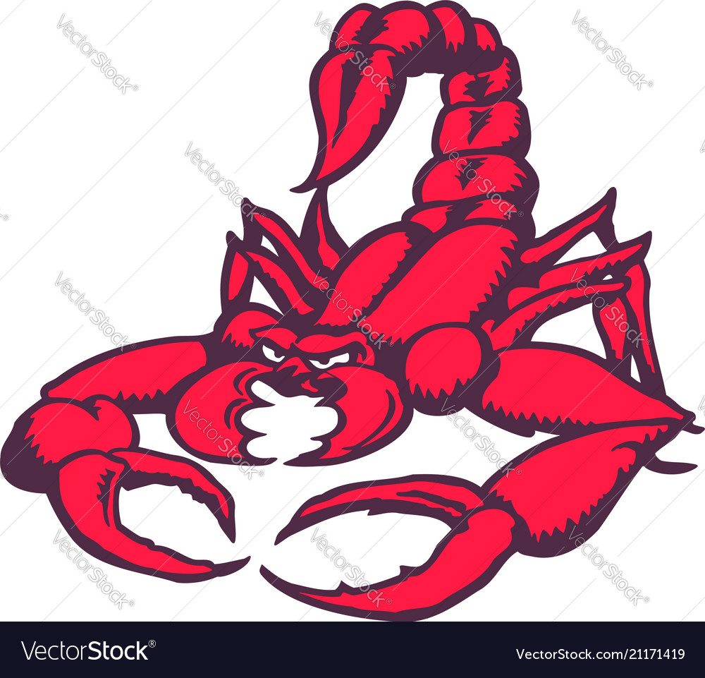 Scorpion cartoon character