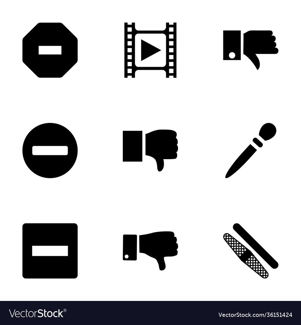 9 negative icons