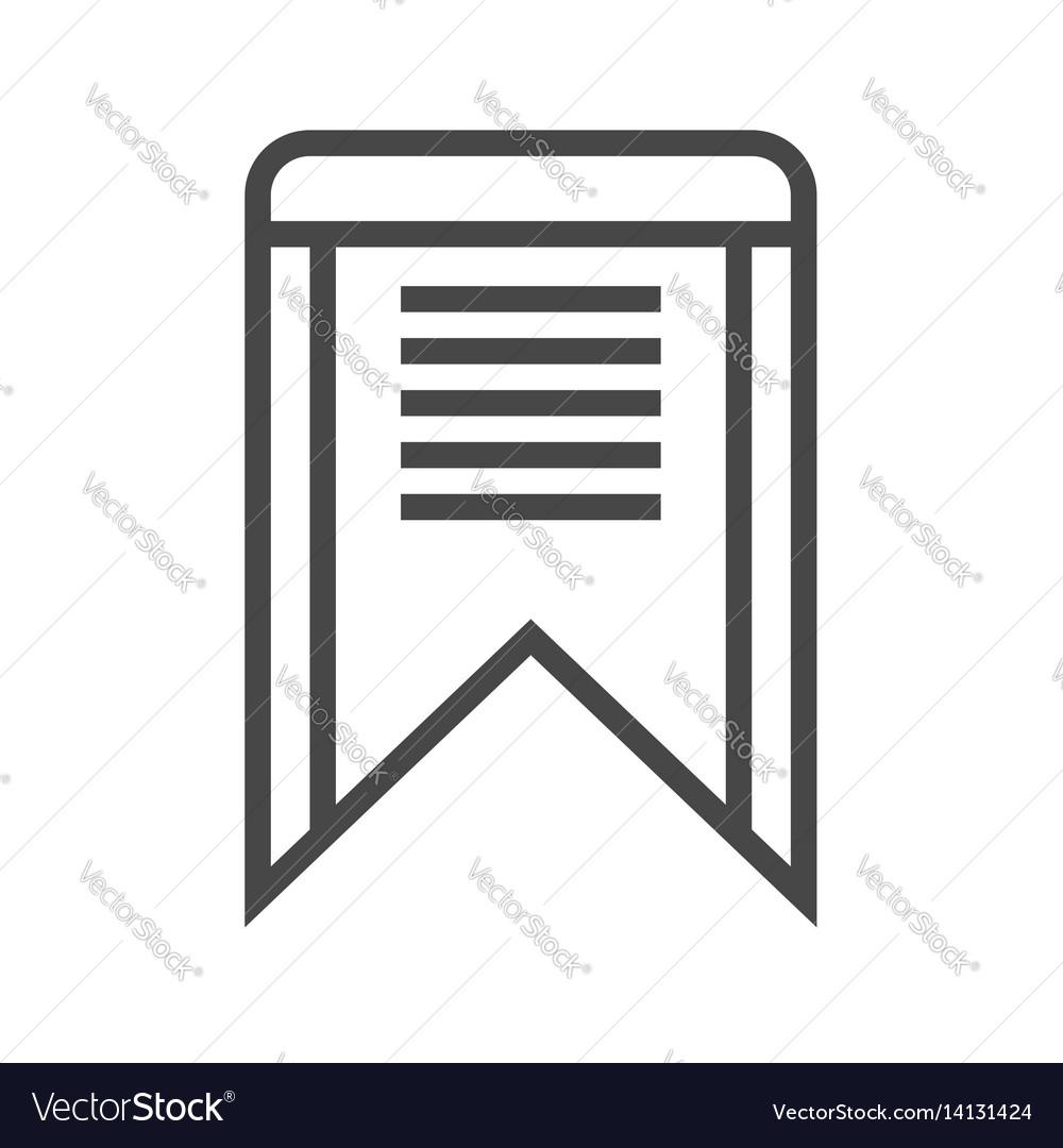 Bookmark thin line icon